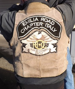 Angelo is a member of the Emilia Road Chapter in Italy. This is his vest.