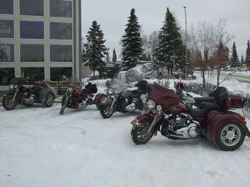 Motorcycle Parking Only Area at the Dealership is Year-Round