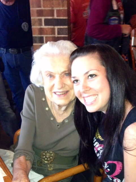 Birthday girls! Corky and I celebrating 92 and 27!