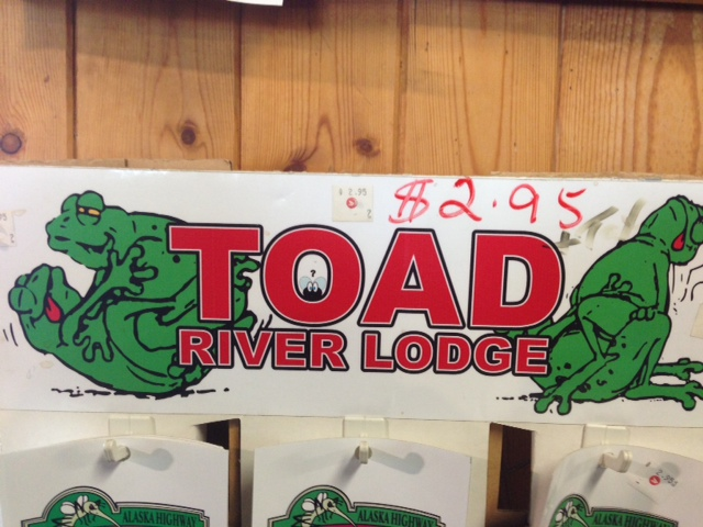 Toad River Lodge Stickers