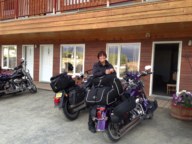 The lovely Sherri & her purple softail