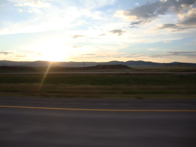 sunset as we hit SD