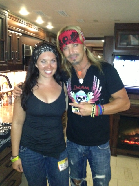 Bret was pretty stoked to meet a bad ass biker chick that ride all the way from ak, so I let him get a pic with me