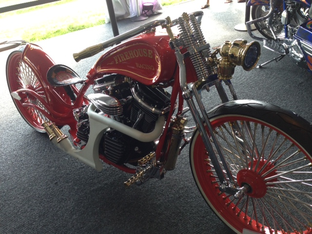 Firefighter bike at AMD bike show