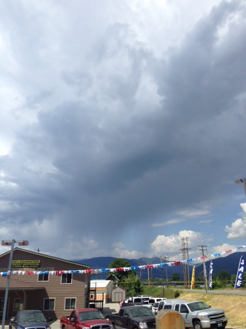 Looks like rain coming back to the road!