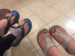 Pedicures with Chelsey